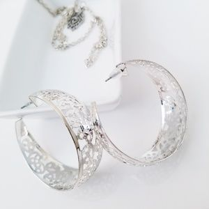 Laser Cut Hoop Earrings